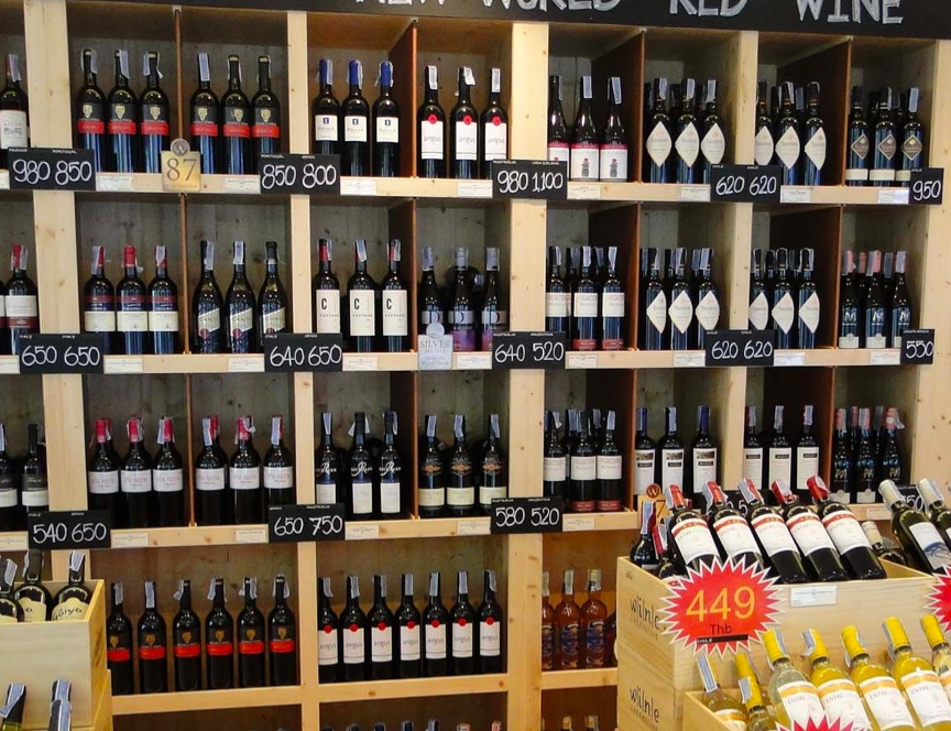 wide variety of world wines here at BYD Lofts